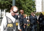 Police at Occupy Atlanta Hip Hop concert.