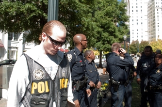 Police at Occupy Atlanta Hip Hop concert