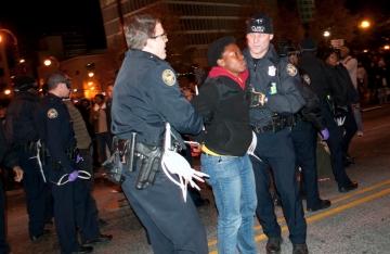 Activist's arrest.