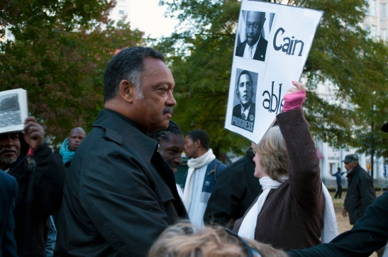 Jesse Jackson, Cain and Able (Obama)