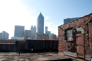 Downtown Atlanta from Homeless Shelter Rooftop