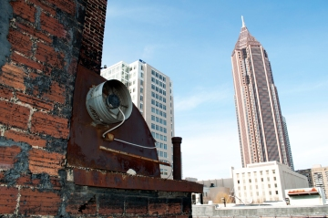 Midtown Atlanta from Homeless Shelter Rooftop