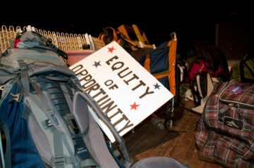 activists backpacks