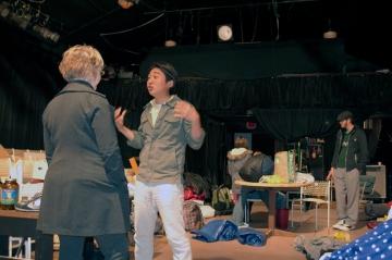 Bo Han speaking with Diana Eidson