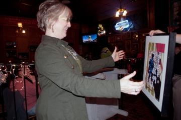 Diana winning raffle prize