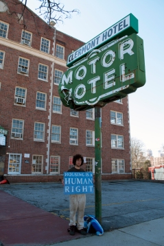 Peter Grotticelli in front of disaffected historic building