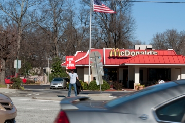 Daniel Hanley from Occupy Atlanta shutting down McDonald