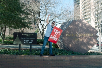Daniel Hanley at the Bank of America Plaza