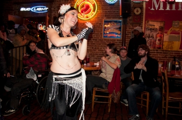 Lady Morrighan at Mani's Tavern