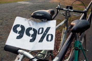 protester bike