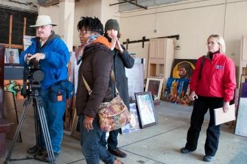 11News Crew with Occupy Atlanta Activists