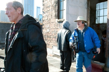 Richard Van Slyke of RoamingVideo.com and 11News Cameraman on Rooftop of Pine and Peachtree Homeless Center