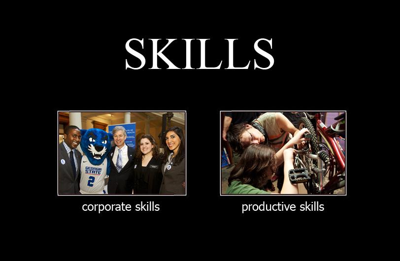 productive skills versus corporate skills