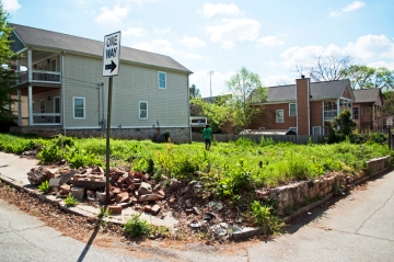 Abandoned lot for planned urban garden