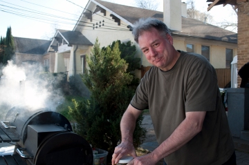 Bill the grill master at Glen Iris