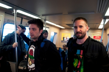 Daniel Hanley and Joey in MARTA train