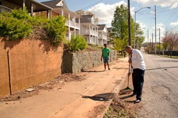 Vine City resident contributing to a better neighborhood