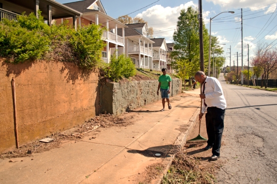 Vine City resident contributing to a better neighborhood