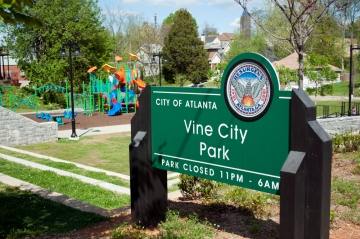 Well maintained playground in Vine City