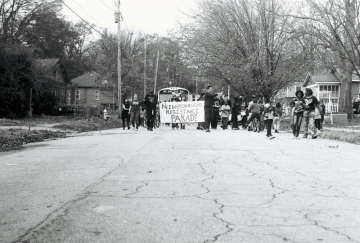 Resistance Parade in Typical Atlanta Neighborhood